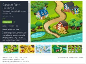 2D Cartoon Farm Building