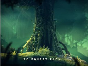 2D Forest Pack for free (unityassets4free)