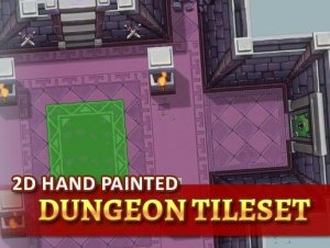 2D Hand Painted – Dungeon Tileset for free (unityassets4free)