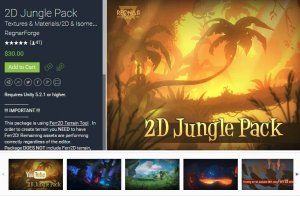 2D Jungle Pack for free (unityassets4free)
