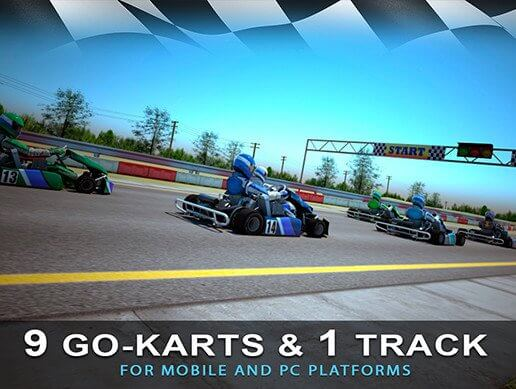 9 Go-Karts & 1 Race Track For Smartphone Games