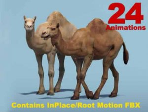 African Animal Camel (Dromedary) for free (unityassets4free)