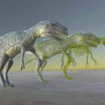 Allosaurus And Skeleton