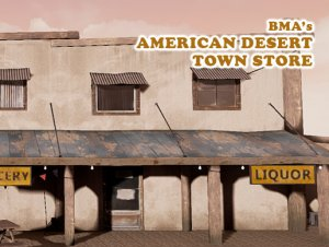 American Desert Town Store for free (unityassets4free)