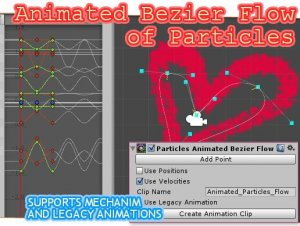 Animated Bezier Flow of Particles