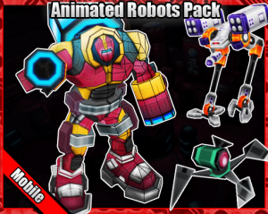 Animated Robots Pack for free (unityassets4free)