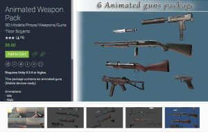 Animated Weapon Pack for free (unityassets4free)