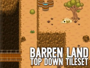 Barren Land Top Down Tileset