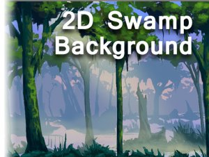 Hand Painted 2D Swamp Background