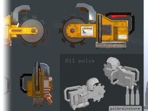 Low Poly Chainsaw for free (unityassets4free)