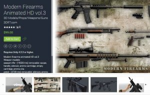 Modern Firearms Animated HD vol.3 for free (unityassets4fee)