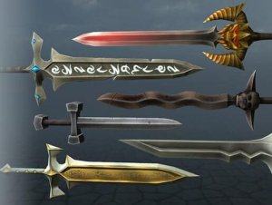 Swords of Good and Evil for free (unityassets4free)