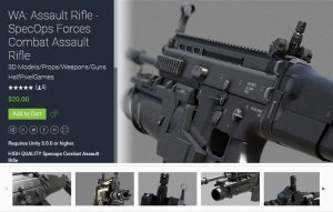 WA Assault Rifle – SpecOps Forces Combat Assault Rifle