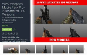 WW2 Weapons Mobile Pack Pro for free (unityassets4free)