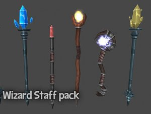 Wizard Staff Pack for free (unityassets4free)
