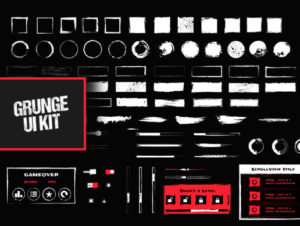 Grunge UI Kit – Free Download