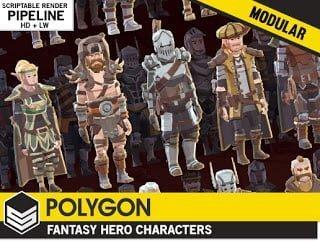 POLYGON – Modular Fantasy Hero Characters