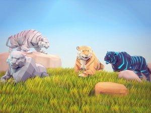 Poly-Art-Tiger