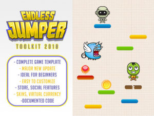 2D Endless Jumper Game Kit