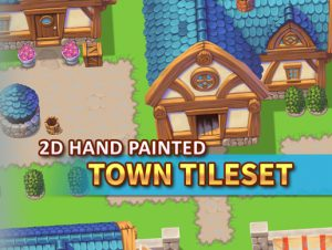 2D-Hand-Painted-Town-Tileset-300x226