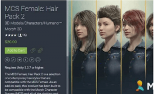 MCS Female Hair Pack 2 1.6