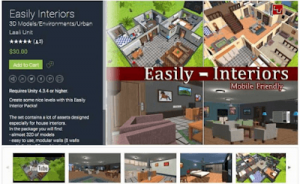 Easily Interiors full packs Low-poly