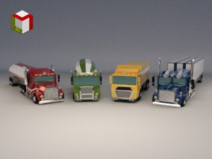 Read more about the article Low Poly Truck Pack 01