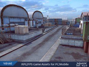 RPG/FPS Game Assets for PC/Mobile (Industrial Set v3.0)