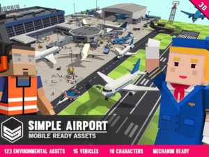 Simple Airport – Cartoon Assets