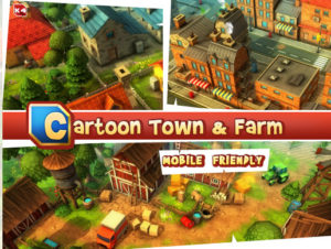 Cartoon Town and Farm