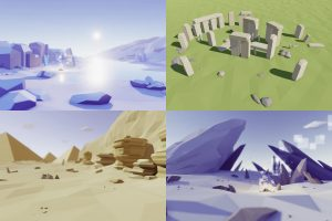 Read more about the article Low Poly Rocks Pack