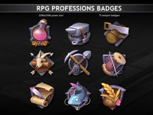 Rpg Professions Badges