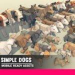 Simple Dogs Cartoon Animals