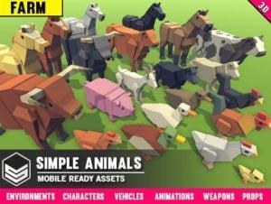 Simple Farm Animals – Cartoon Assets