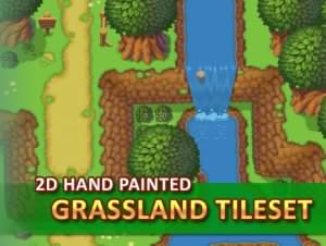 Read more about the article 2D Hand Painted – Grassland Tileset