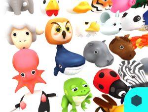 Adorable 3D Animal Set