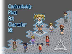 Customizable Pixel Art CharacterKit