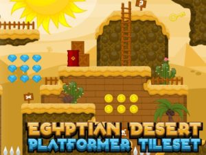 Egyptian Desert – Platformer Tileset
