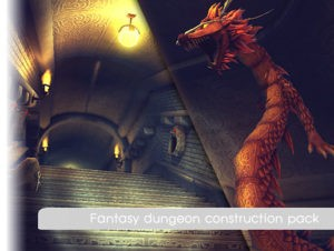 Fantasy dungeon construction pack
