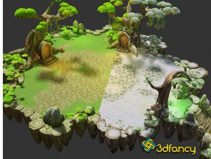 Floating Islands Fantasy Environment Pack
