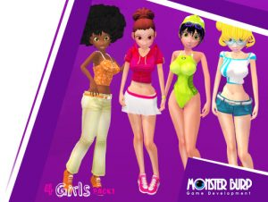 Four Cartoon Girls Volume 1