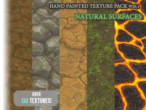 Hand Painted Texture Pack Natural Surfaces