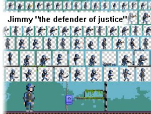 Jimmy The Defender of Justice Pixel Art Pack