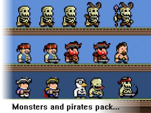 Monsters and Pirates Pixel Art Pack