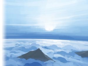 Painted Skybox – Above the clouds (with and without mountains)