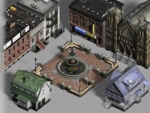 Realistic City Buildings