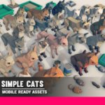 Simple Cats Cartoon Animals