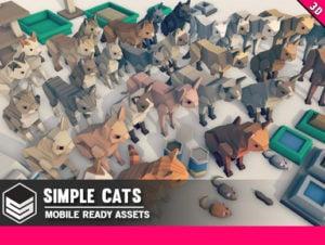 Simple Cats Cartoon Animals