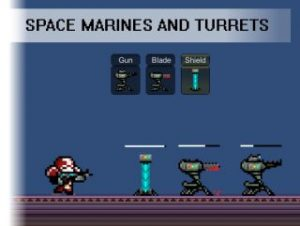Space Marines and Turrets Pixel art Pack