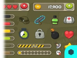 GUI Kit Cartoon Military